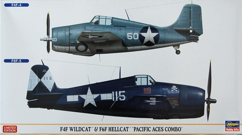 F4f wildcat and f6f hellcat pacific aces combo two kits kits