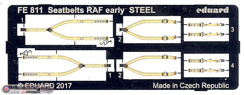 Eduard Eduafe839 Seatbelts France Wwii Steel 1//48