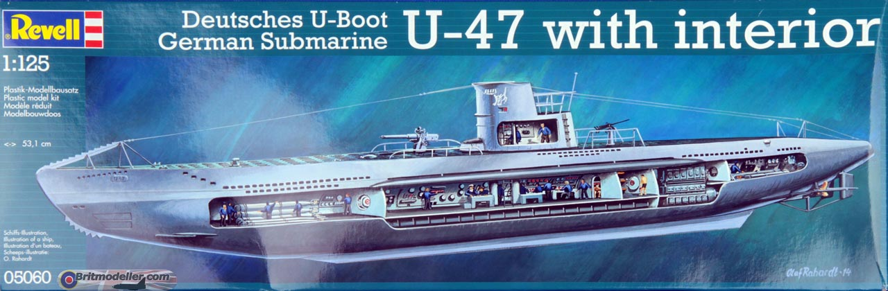 Type VIIB U-Boat U-47 with interior  1:125 - Kits - Britmodeller com