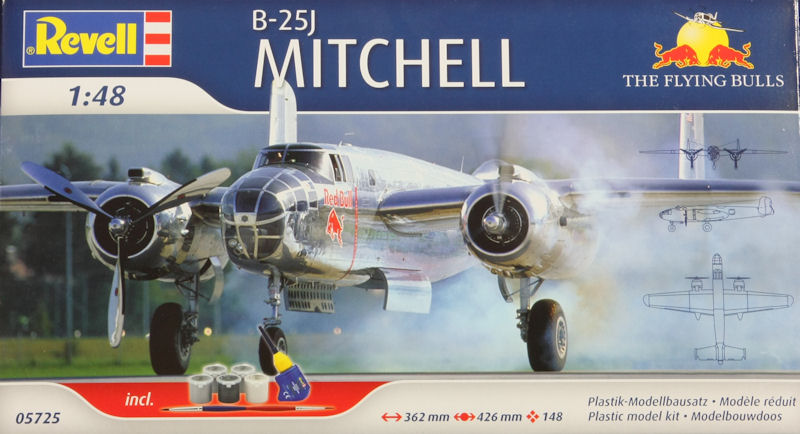 na b 25j mitchell the flying bulls 1 48 revell kits