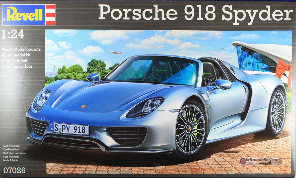 revell porsche 918 standard and weissach vehicle. Black Bedroom Furniture Sets. Home Design Ideas