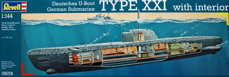 german submarine type xxi with interior kits