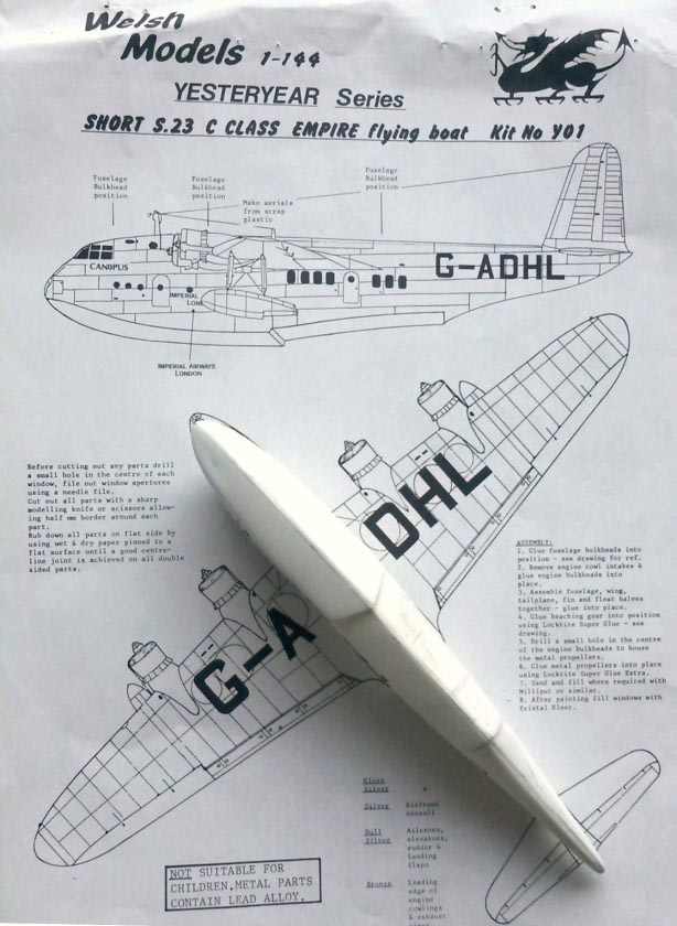Short S 23 Empire flying boat - Flying boats and Floatplanes GB