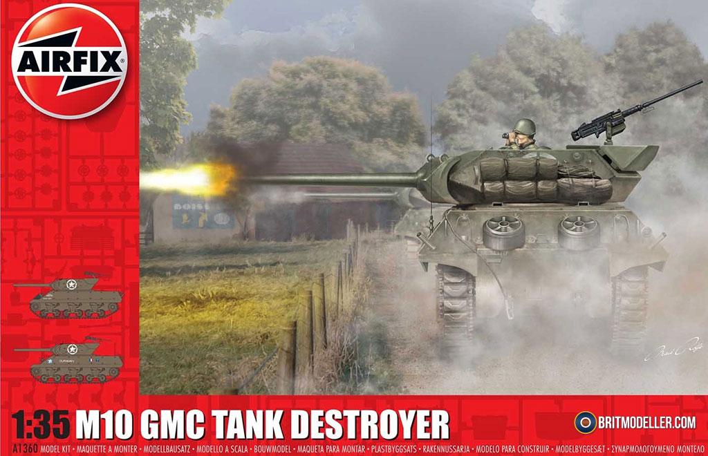 M10 GMC Tank Destroyer (A1360) - 1/35 Airfix - Kits - Britmodeller com