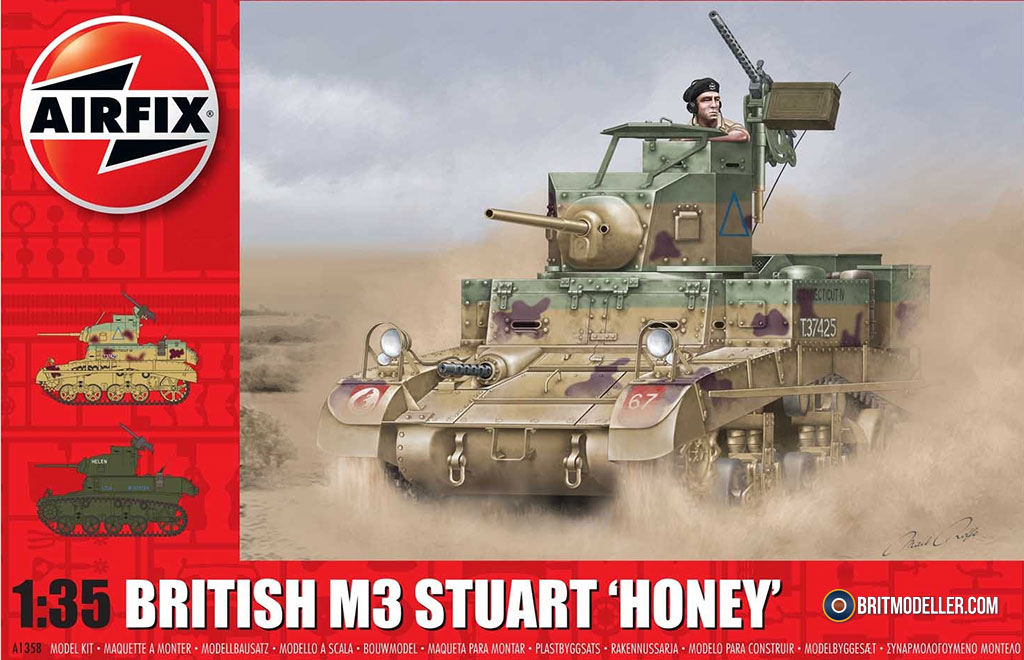 British M3 Stuart Honey - 1:35 Airfix A1358 - Kits - Britmodeller com