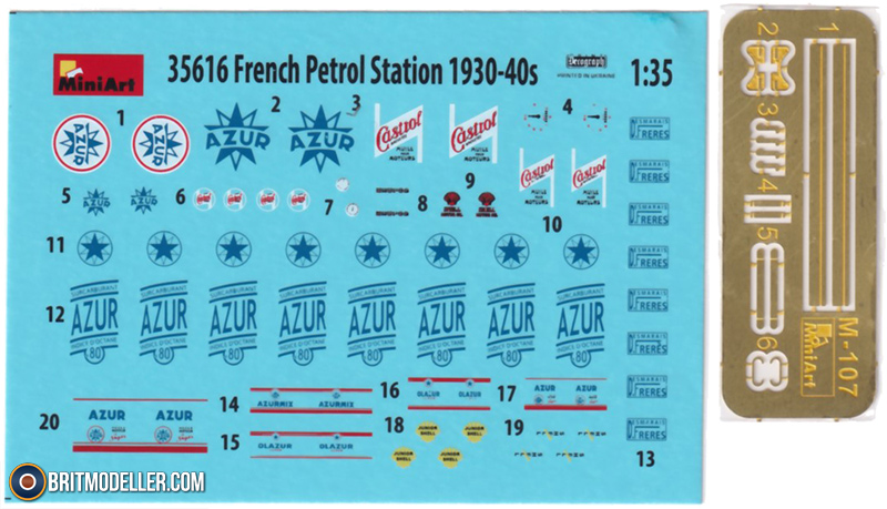 French Petrol Station 1930-40S MiniArt 35616-1//35